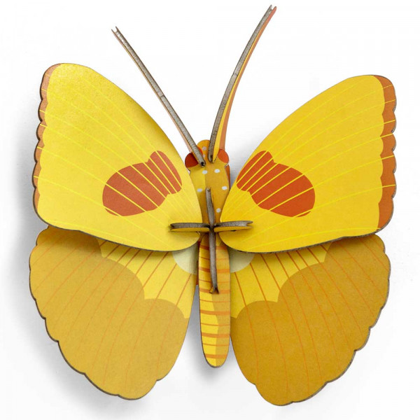 studio ROOF 3D Schmetterling gelb Pappe