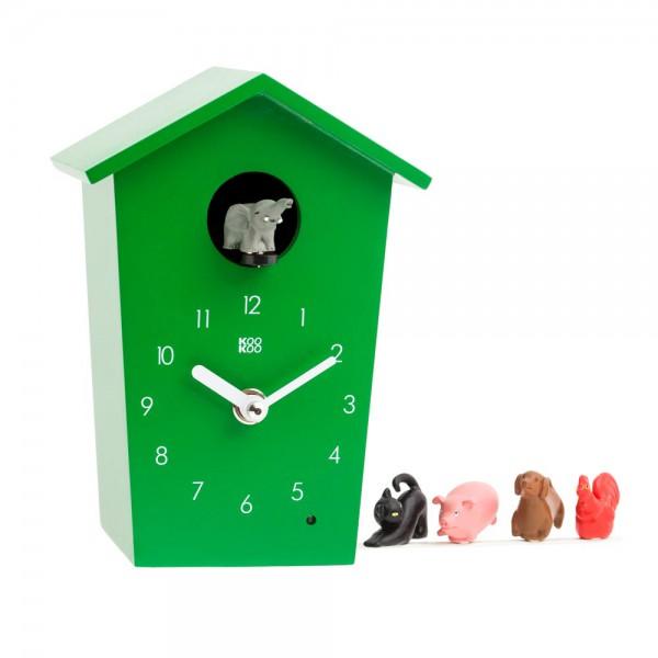Kookoo Kinderuhr Animal House grün