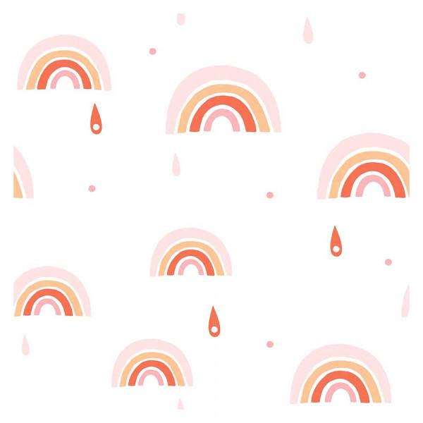 Lilipinso Vlies Tapete Regenbogen rosa