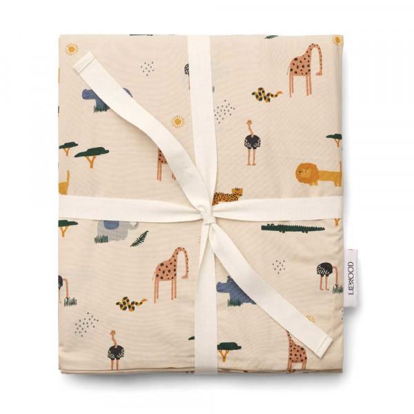 """Liewood """"Ingeborg"""" Kinderbettwäsche Safari Mix beige 100 x 140 cm"""