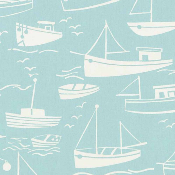 Harlequin all about me Stoff Segelboote blau