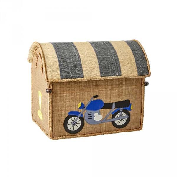 Rice Spielzeugkorb Fahrzeuge klein natur
