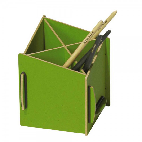 Werkhaus Stiftebox diagonal grün