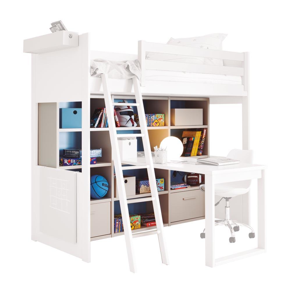 asoral roomplanner regal f r hochbett bei kinder r ume. Black Bedroom Furniture Sets. Home Design Ideas