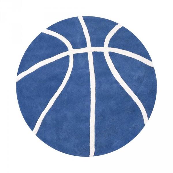 Lilipinso Teppich Basketball rund blau