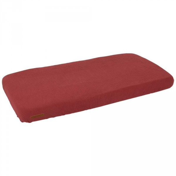 """Little Dutch Bettlaken Babybett 70x140 uni rot """"Pure Red"""""""