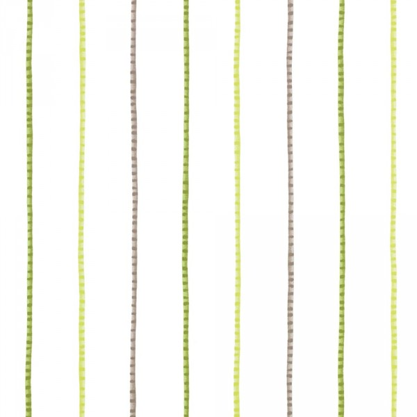 Casadeco Alice & Paul Stoff Streifen grün braun