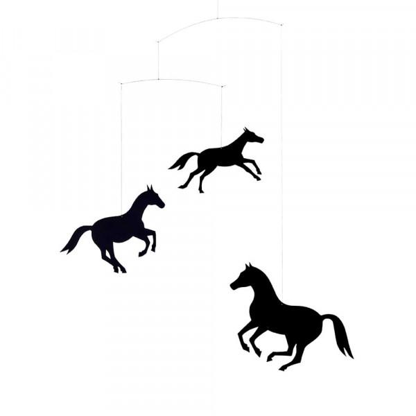 Flensted Mobile Pferde schwarz
