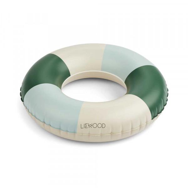 "Liewood ""Baloo"" Schwimmreifen klein grün creme taubenblau Streifen"