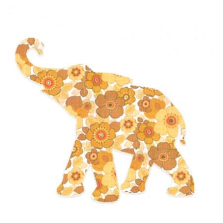 Inke Babyelefant Ranke orange