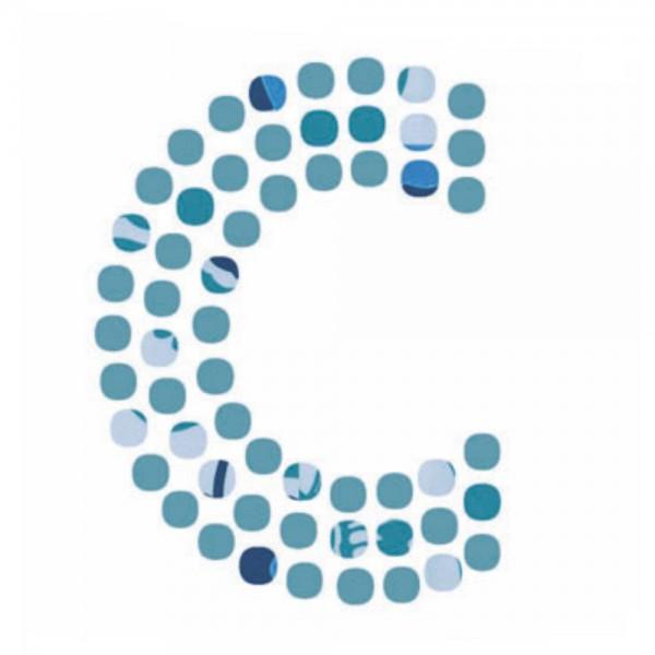 Lilipinso Sticker blau Buchstabe c