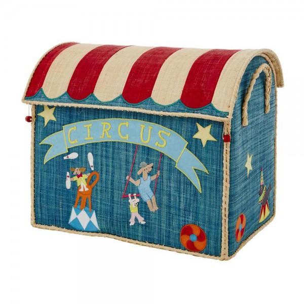 Rice Spielzeugkorb Zirkus blau groß
