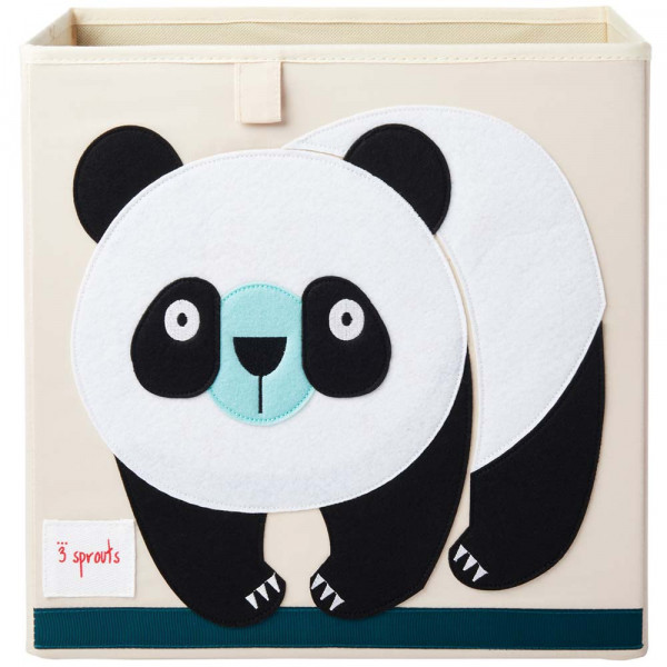 3 Sprouts Spielzeugkorb Panda