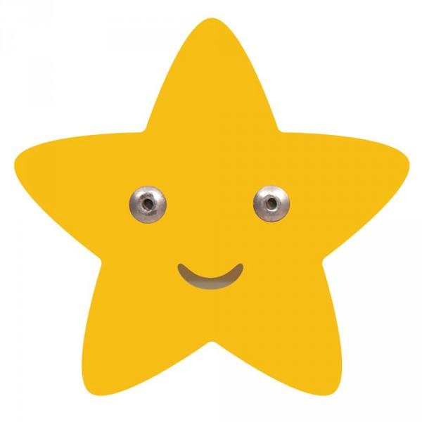 Roommate Kleiderhaken Stern gelb