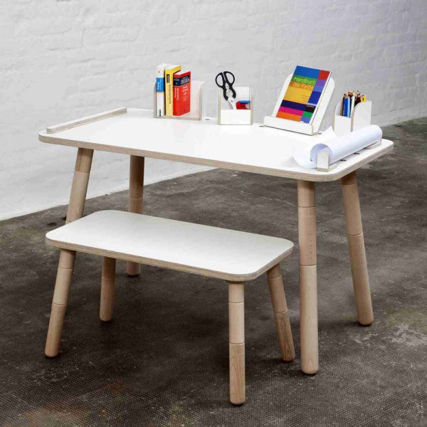 Pure Position Growing Table Bücherboard weiss