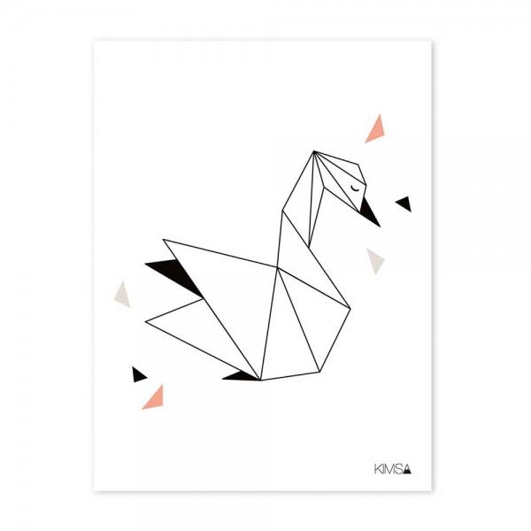 Lilipinso Poster Origami Schwan