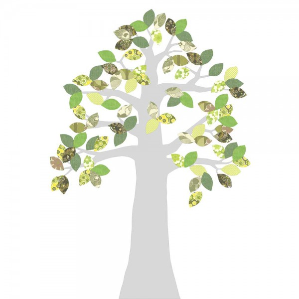 Inke Tapetenbaum silber grün