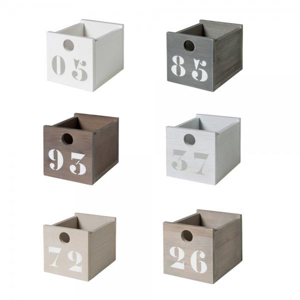 Bopita Basic Wood Kisten mini für Regale & Nachttisch