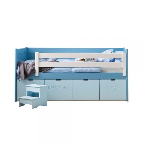Asoral Roomplanner Kojenbett mit 4 Rollcontainern