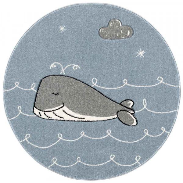 Scandic Living Kinderteppich rund Wal