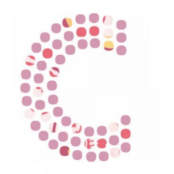 Lilipinso Sticker rosa Buchstabe c