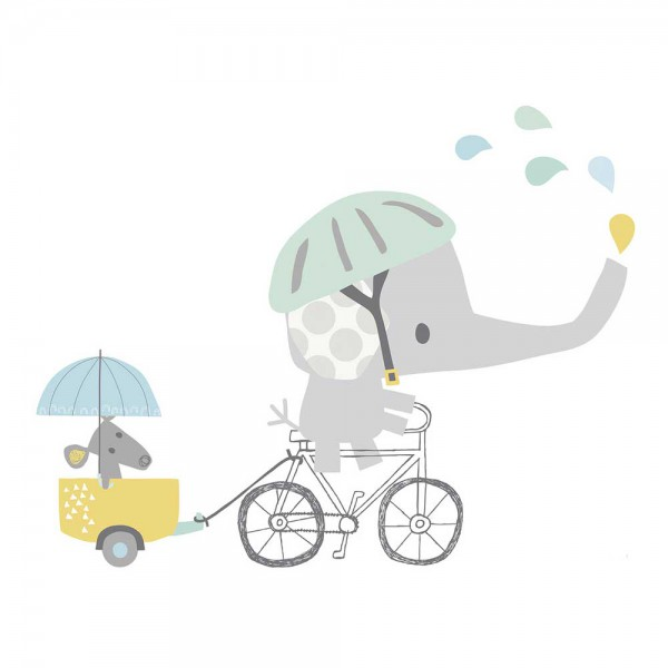Lilipinso Wandsticker XL Elefant mit Fahrrad