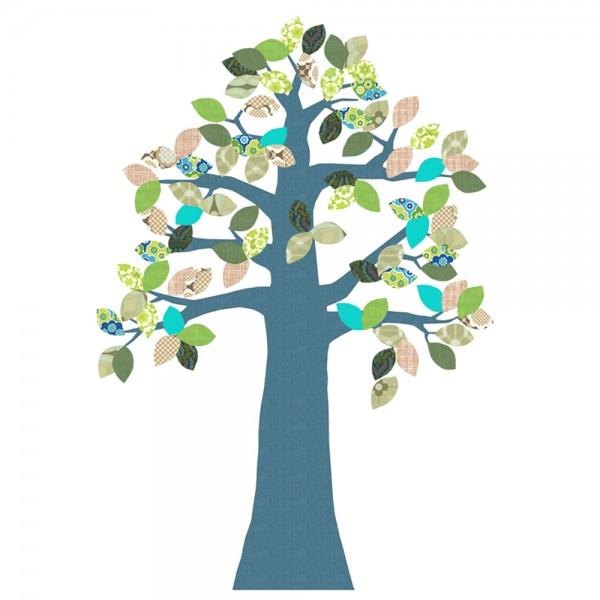 Inke Tapetenbaum blau mit Krone