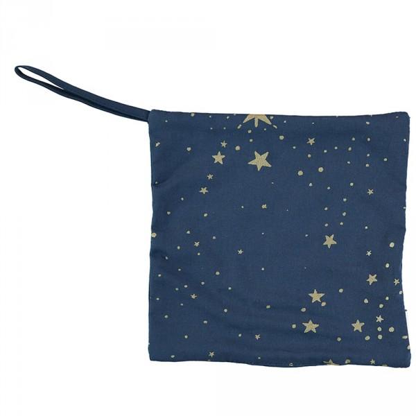 Nobodinoz Schnullerhalter Dodo goldene Sterne blau