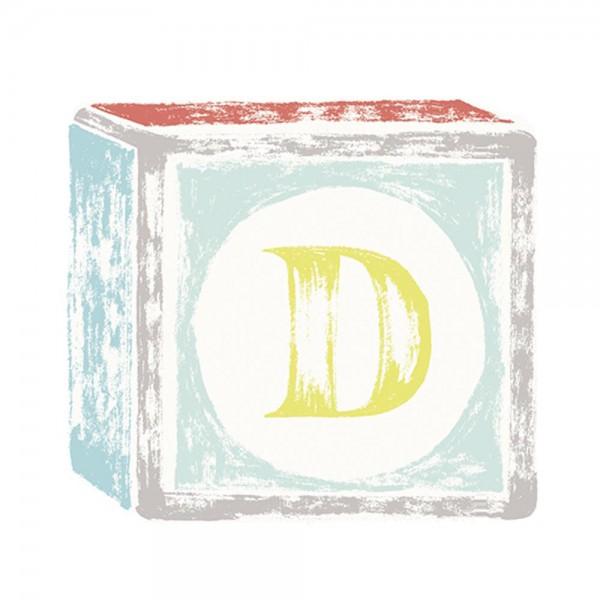 Lilipinso Sticker Buchstabe auf Spielwürfel D