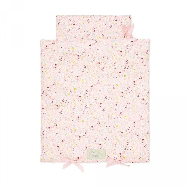 Cam Cam Puppenbett Bettwäsche Blüten rosa