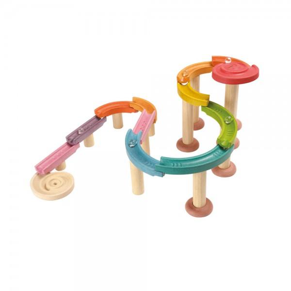 Plan Toys Murmel Bahn Holz bunt