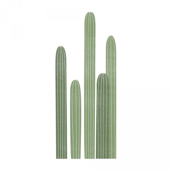 Lilipinso Wandsticker XL Kakteen lang und dünn grün