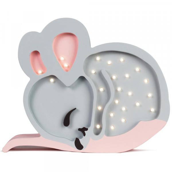 little lights Led Deko Kinderlampe Maus grau