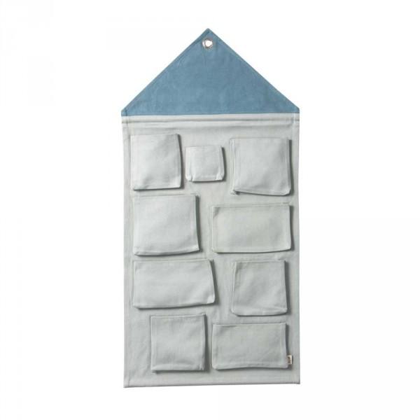 Ferm Living Wandaufbewahrung House pastellblau