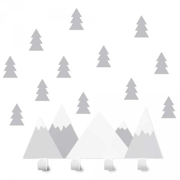 tresxics Kindergarderobe Berge grau