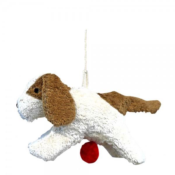 Senger Spieluhr Hund weiß beige