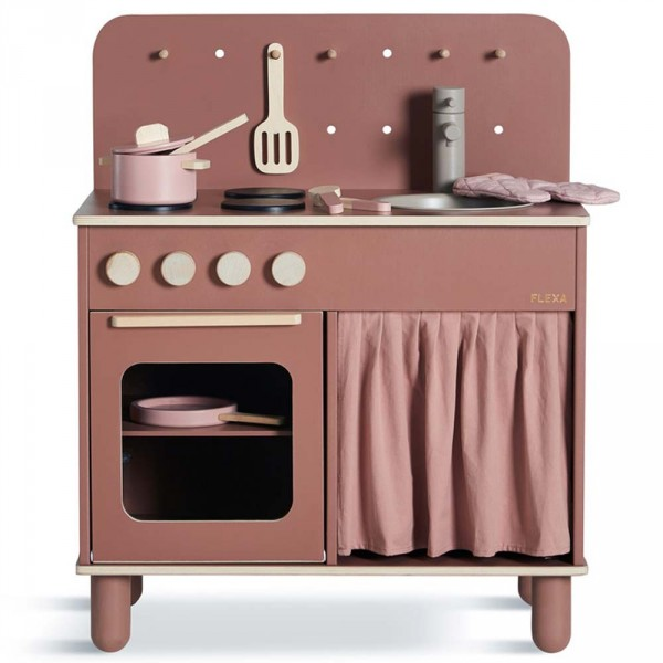 Flexa Kinder Spielküche Holz rosa
