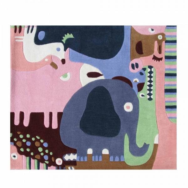 Art for Kids Kinderteppich Tier Puzzle blau