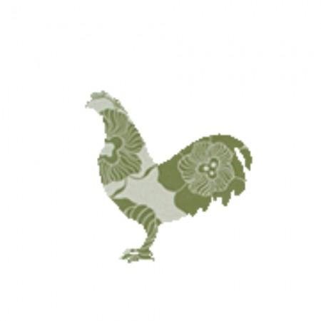 Inke Tapetentier Hahn Ranke oliv