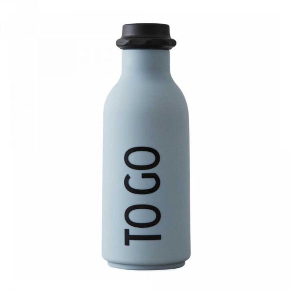 Design Letters AJ Wasserflasche TO GO grau
