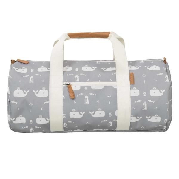 Fresk kleine Reisetasche Wale grau
