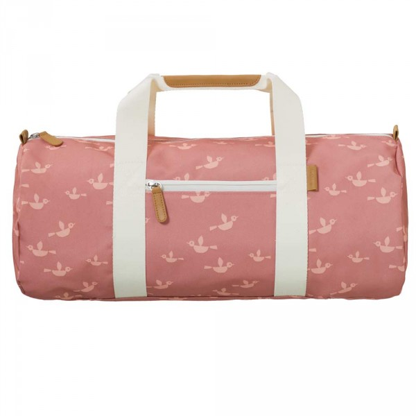 Fresk kleine Reisetasche Vögel rosa
