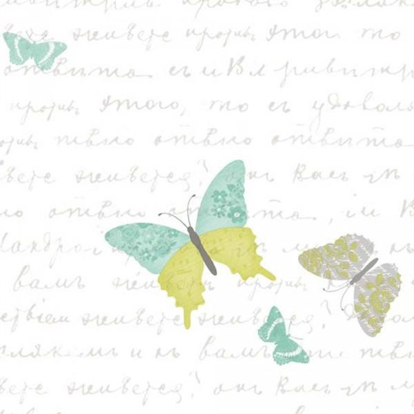 Caselio Pretty Lili Tapete Schmetterlinge mint lime