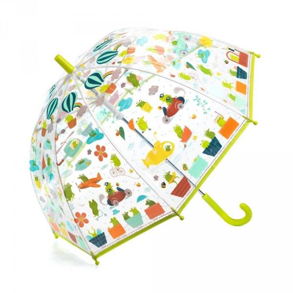 Djeco Kinder Regenschirm Frösche