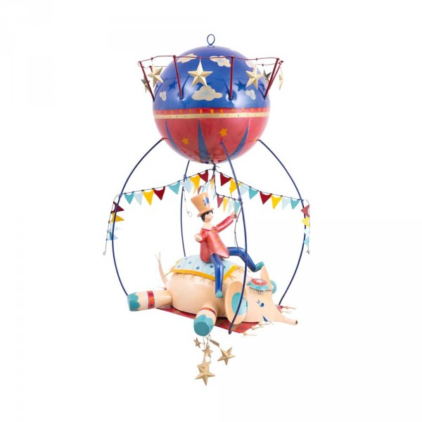 L' Oiseau Bateau Mobile Riesen-Heissluftballon ZIrkuselefant