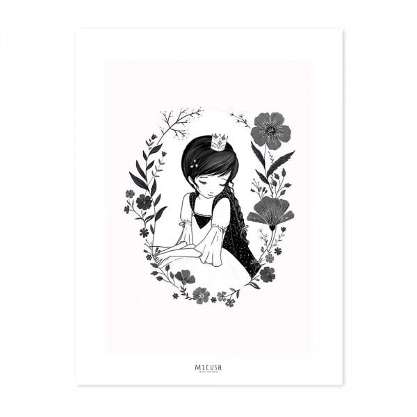 Lilipinso Poster kleine Prinzessin rosa schwarz