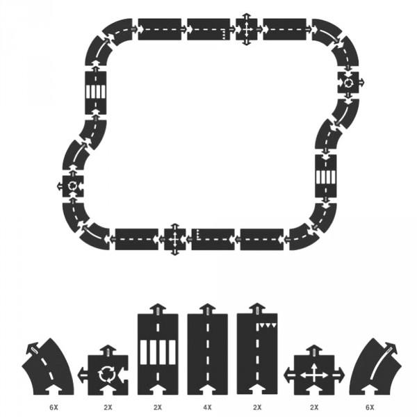 Way to Play Spielstrasse Set Autobahn