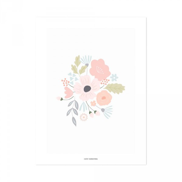 Lilipinso Poster Blumenstrauss rosa pastell