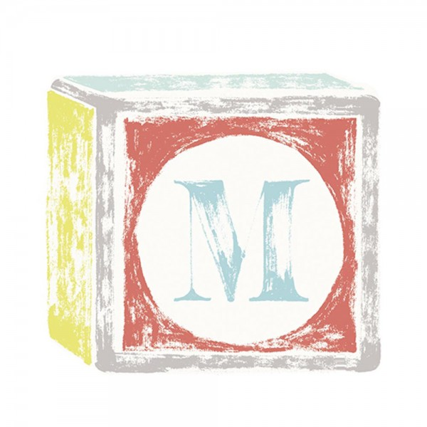 Lilipinso Sticker Buchstabe auf Spielwürfel M