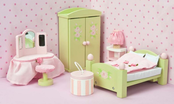 Le Toy Van Puppenhaus Zubehör Schlafzimmer Daisy Lane